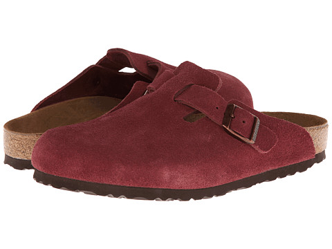 Birkenstock - Boston Soft Footbed (Sun Dried Tomato Suede) Women