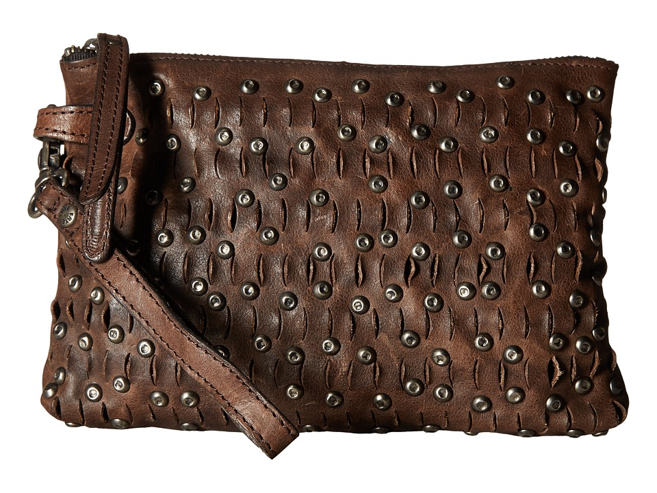 Frye - Diana Stud Pouch (Charcoal Tumbled Full Grain) Handbags