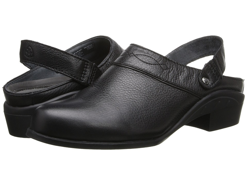 Ariat - Sport Mule (Black Deertan) Women's Clog/Mule Shoes