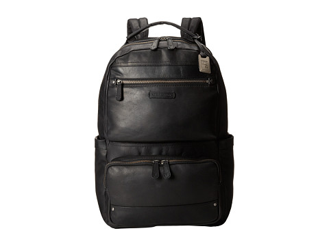 Frye - Logan Backpack Large (Black Antique Pull Up) Backpack Bags