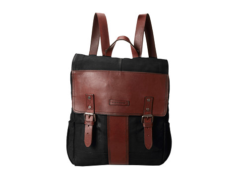 Frye - Trevor Backpack (Black Washed Buffalo) Backpack Bags
