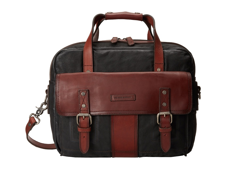 Frye - Trevor Utility Brief (Black Washed Buffalo) Briefcase Bags