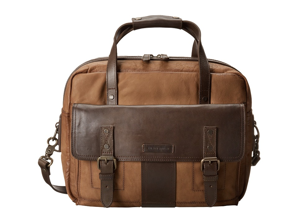 Frye - Trevor Utility Brief (Taupe Washed Buffalo) Briefcase Bags