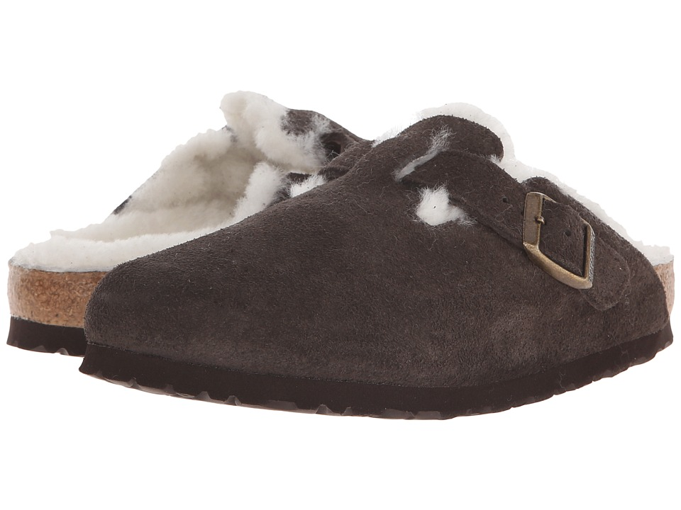 Birkenstock - Boston Shearling (Mocha Suede/Shearling) Women's Clog Shoes