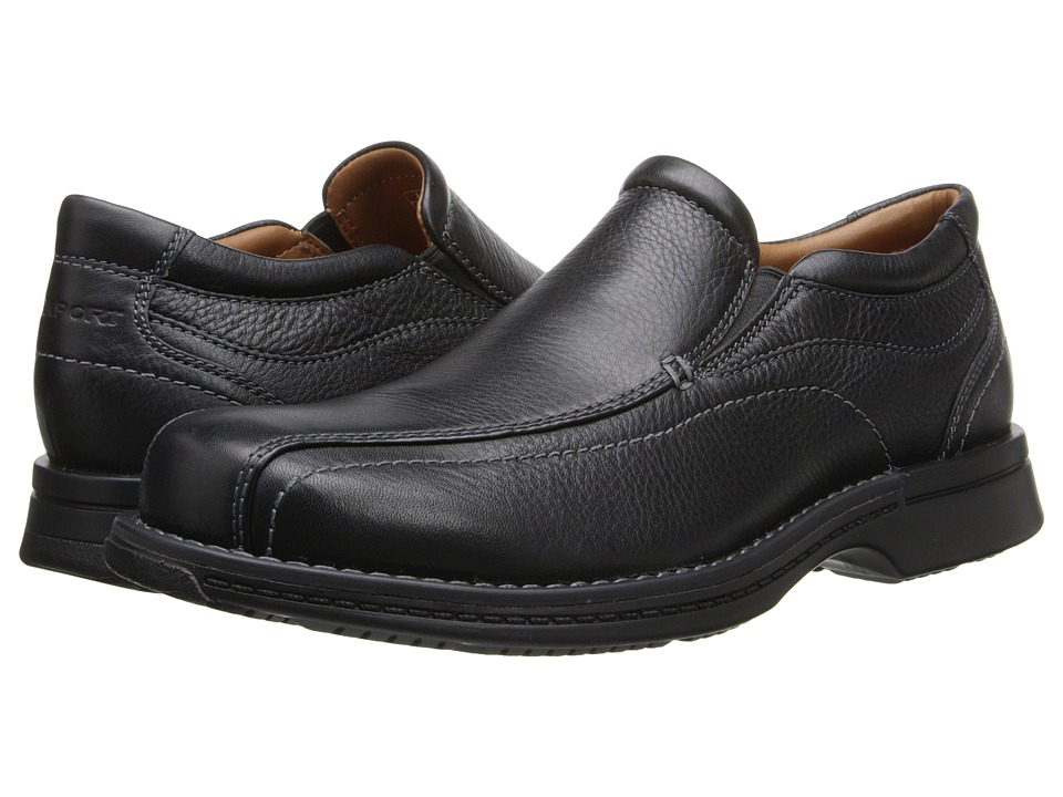 Rockport - Classic Slip-On (Black Tumbled Pull Up) Men's Shoes
