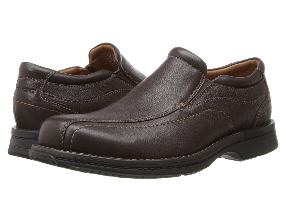 Rockport - Classic Slip-On (Brown Tumbled Pull Up) Men's Shoes