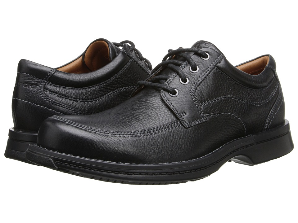 Rockport - Classics Moc Toe (Black Tumbled Pull Up) Men