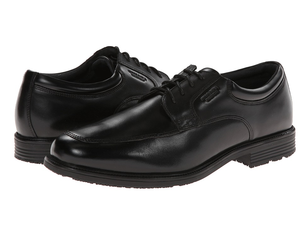 Rockport - Lead The Pack Apron Toe (Black WP Leather) Men's Shoes