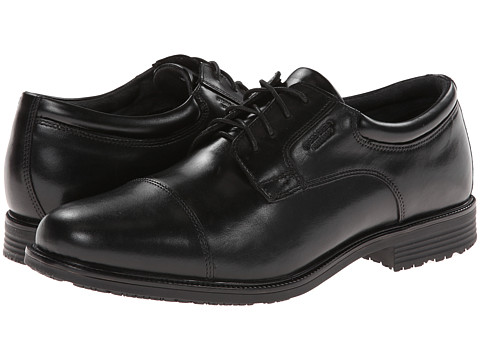 Rockport - Lead The Pack Cap Toe (Black WP Leather) Men