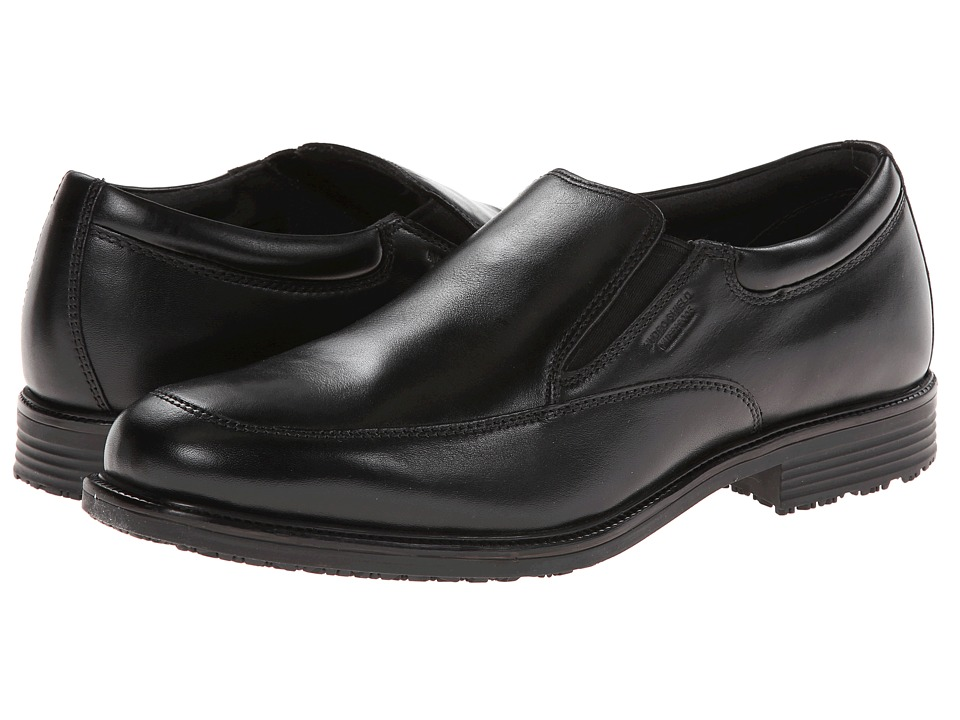 Rockport - Lead the Pack Slip-On (Black WP Leather) Men's Shoes
