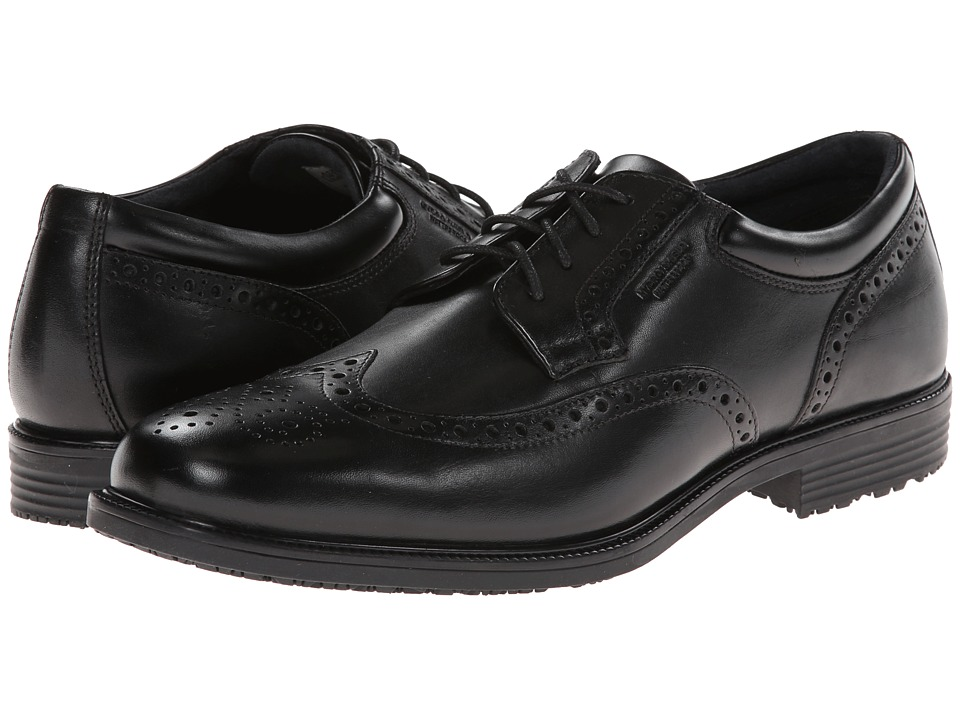 Rockport - LTP Wing Tip (Black WP Leather) Men's Shoes