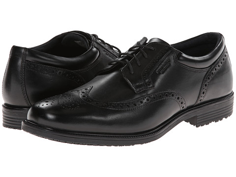 Rockport - LTP Wing Tip (Black WP Leather) Men