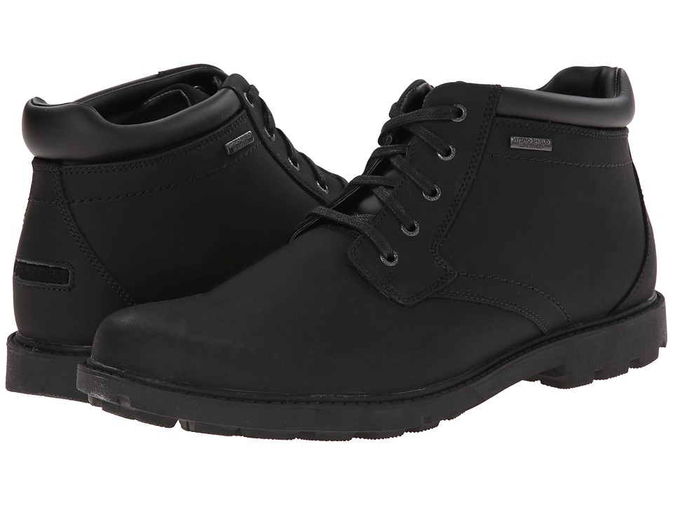 Rockport - Storm Surge Water Proof Plain Toe Boot (Black) Men's Waterproof Boots