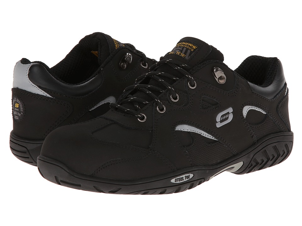 SKECHERS Work - Joster Steel Toe Fusion Oxford (Black) Men