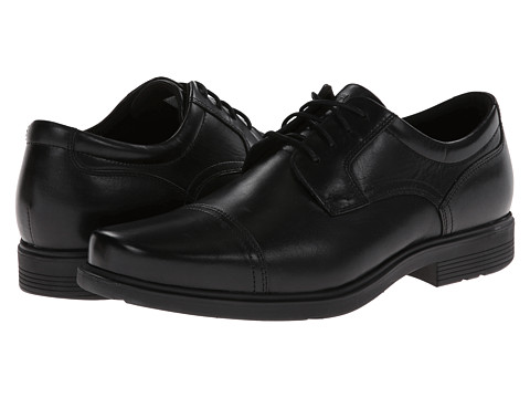 Rockport - ST Cap Toe (Black) Men's Lace Up Cap Toe Shoes