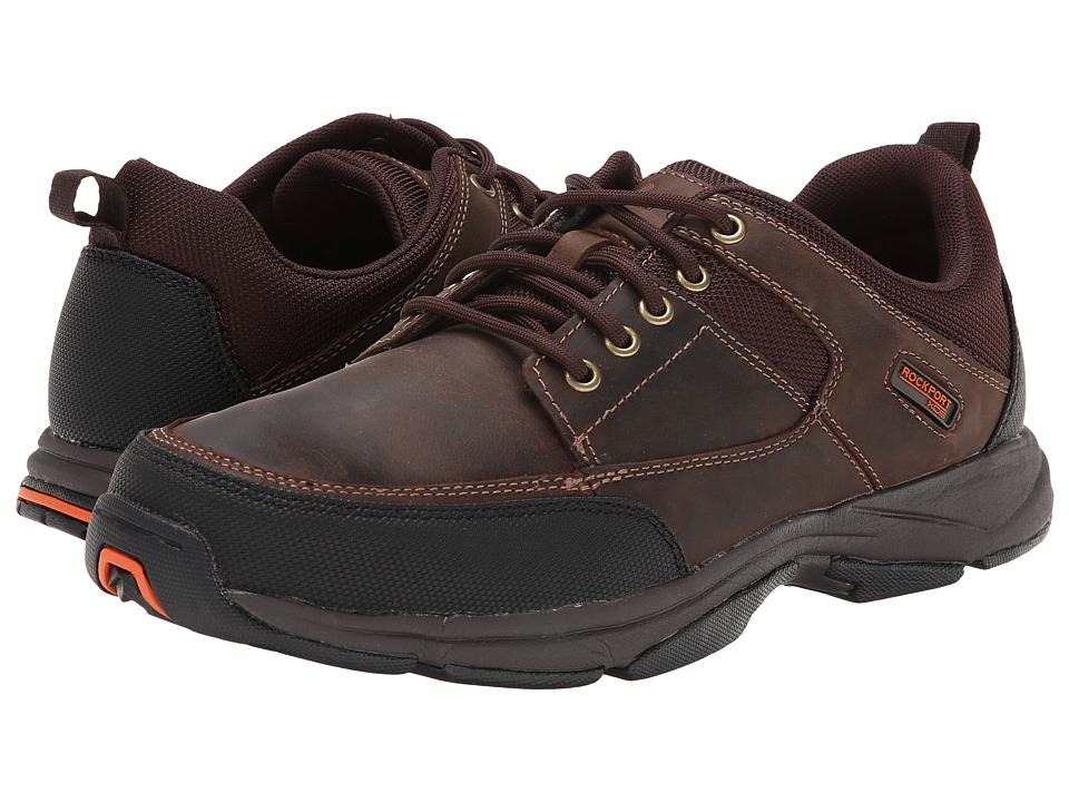 Rockport We're Rockin Moc Front (Dark Brown Leather) Men'...