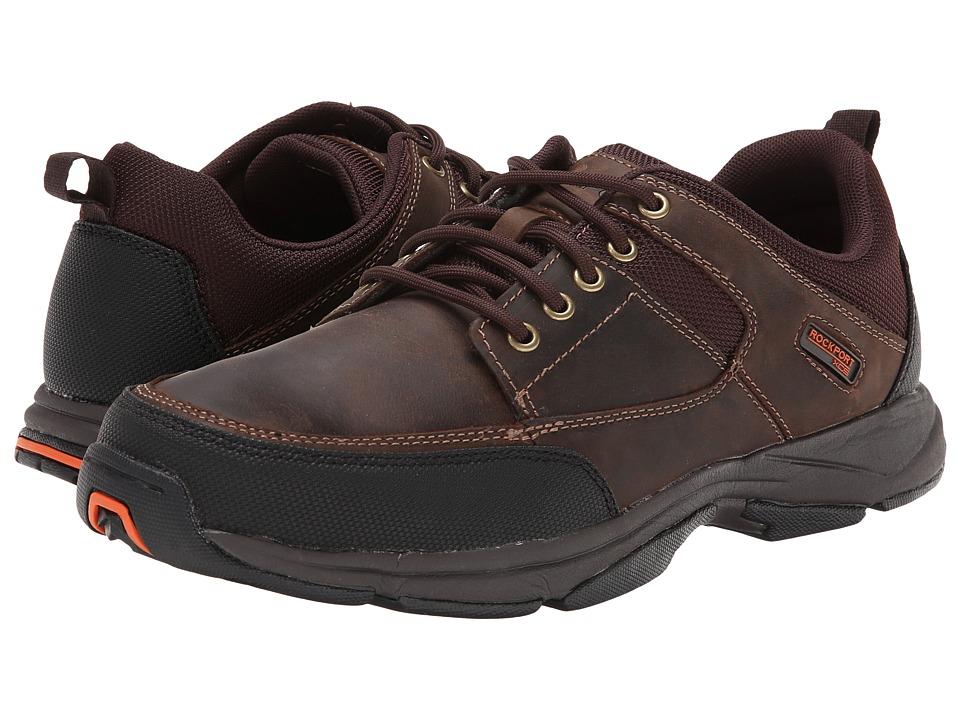 Rockport - We're Rockin Moc Front (Dark Brown Leather) Men's Shoes