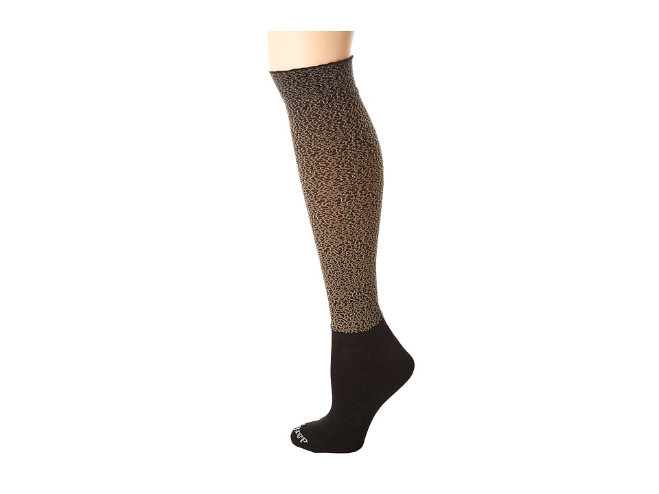BOOTIGHTS - Tabu Cheetah Knee High/Ankle Sock (Sand) Control Top Hose