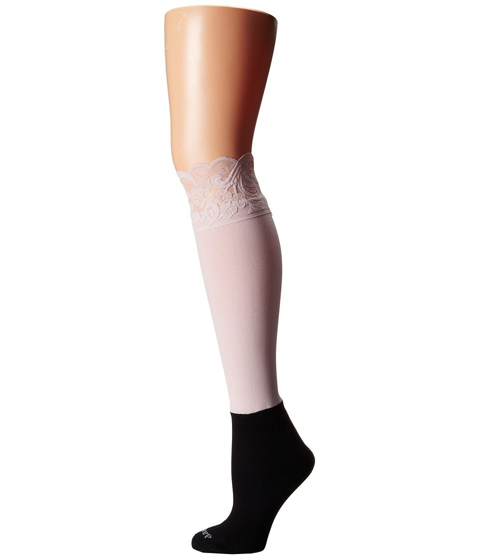 BOOTIGHTS - Lacie Lace Darby Knee High/Ankle Sock (Blush) Knee high Hose