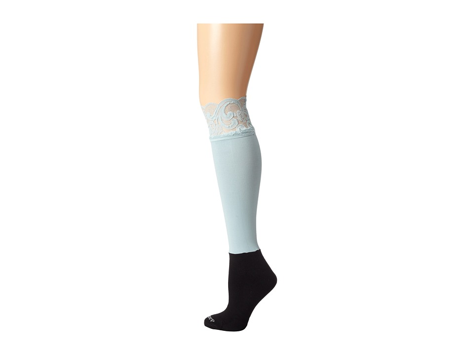BOOTIGHTS - Lacie Lace Darby Knee High/Ankle Sock (Rain) Knee high Hose