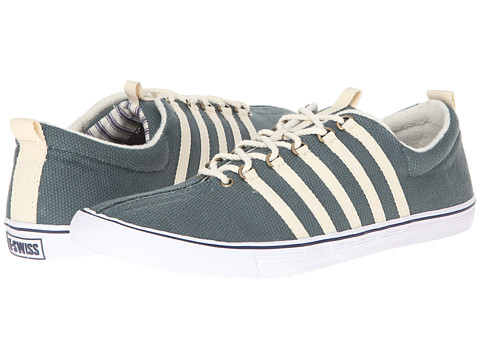 K-Swiss by Billy Reid - Low-Top (Teal Cotton Canvas) Men's Lace up casual Shoes