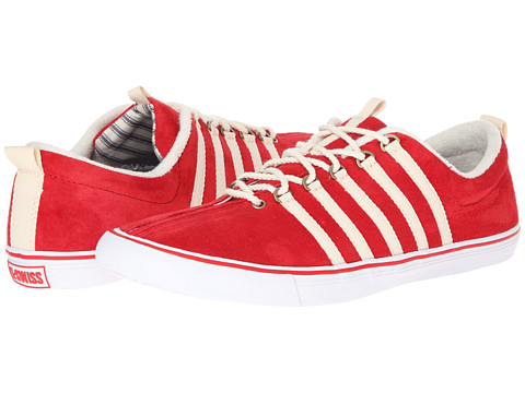 K-Swiss by Billy Reid - Low Top (Red Pig Suede) Men