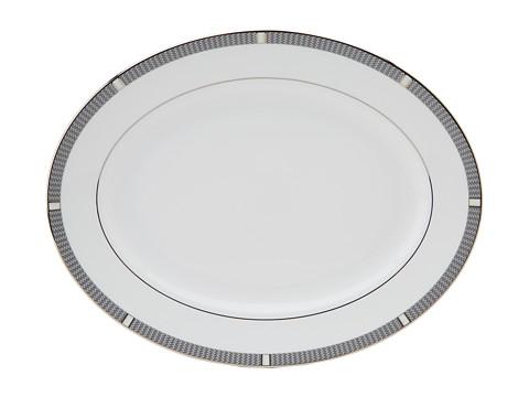 Lenox - Silver Sophisticate Platter (White/Silver) Dinnerware Cookware
