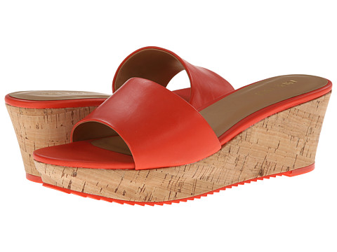Shop Nine West online and buy Nine West Confetty Orange Leather Womens Wedge Shoes shoes online