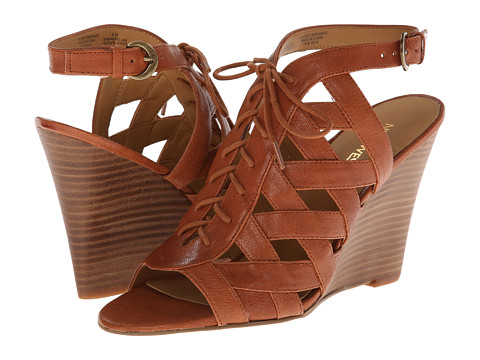 Nine West - Maximilian (Cognac Leather) Women's Wedge Shoes