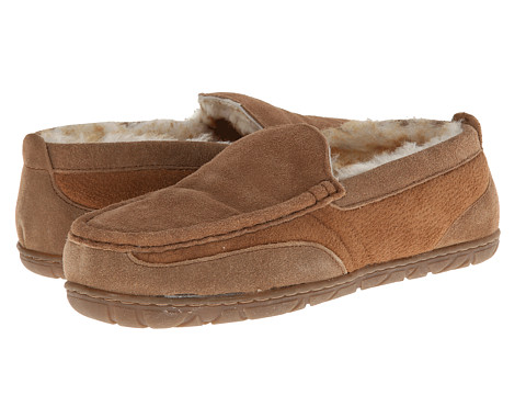 Old Friend - Lodge Moccasin (Tan/Stoney Fleece) Men's Slippers