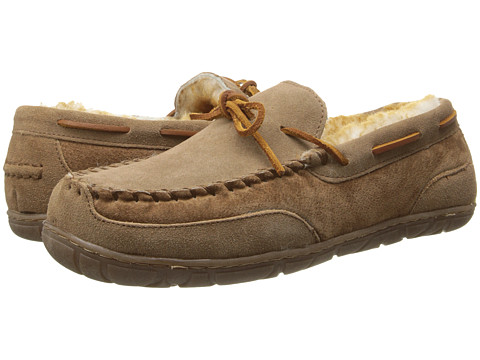 Old Friend - Camp Moccasin (Tan/Stoney Fleece) Men's Slippers