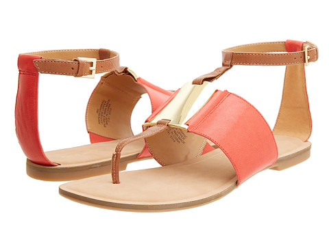 Nine West Performance (Orange/Natural Leather) Women's Sandals