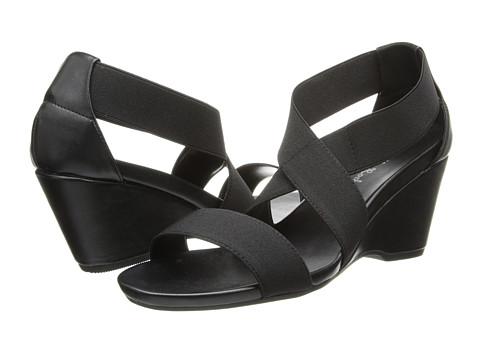Gabriella Rocha - Ellie Wedge Sandal (Black Elastic) Women's Wedge Shoes