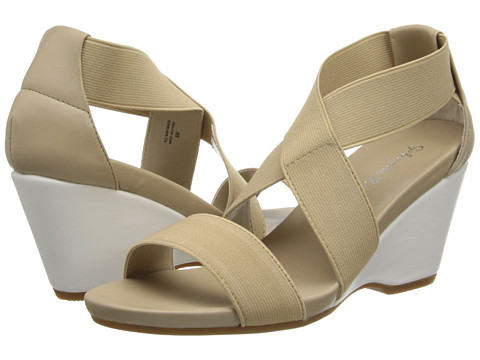 Gabriella Rocha - Ellie Wedge Sandal (Nude Elastic) Women's Wedge Shoes