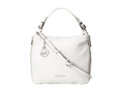 MICHAEL Michael Kors Essex Large Convertible Shoulder (Optic White) Shoulder Handbags