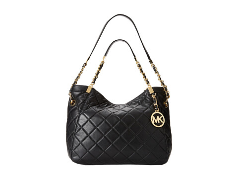 MICHAEL Michael Kors - Susannah Medium Shoulder Tote (Black) Shoulder Handbags