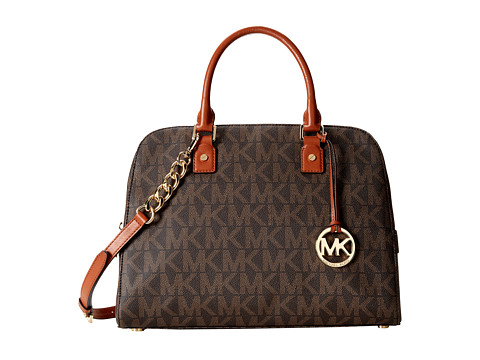 MICHAEL Michael Kors Jet Set Travel Large Satchel (Brown) Satchel Handbags
