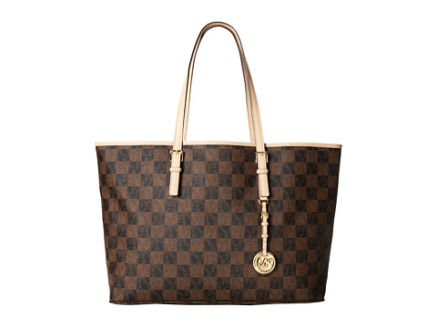MICHAEL Michael Kors Jet Set Travel Medium Multifunction Tote (Brown) Tote Handbags