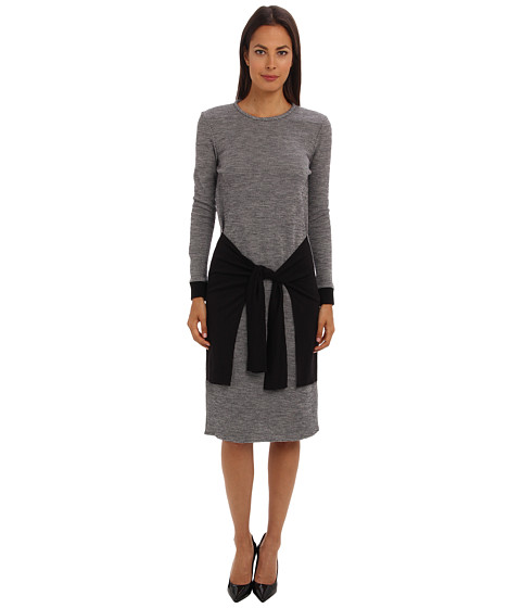tibi - Chadwick Knit Long Sleeve Dress (Ivory Multi) Women's Dress