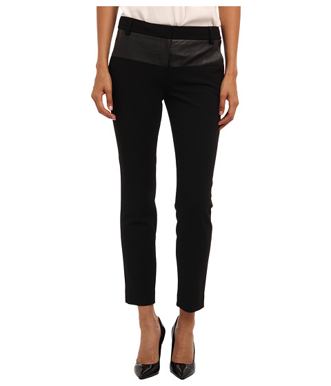 tibi - Anson Stretch Patchwork Skinny Pant w/ Embossed Combo (Black Multi) Women's Casual Pants