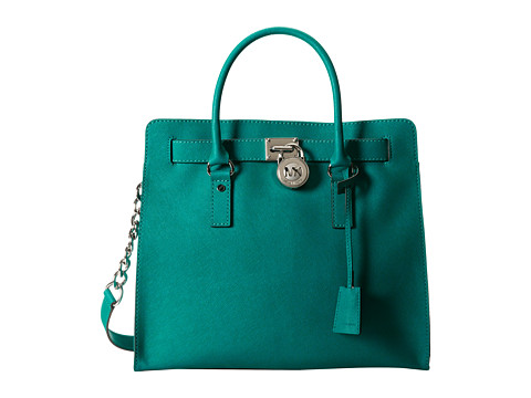 MICHAEL Michael Kors Hamilton Large Ns Tote (Aqua) Tote Handbags