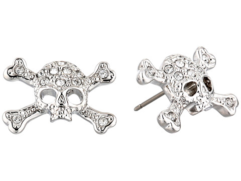Vivienne Westwood - Diamante Skull Stud Earrings (Imitation Rhodium) Earring