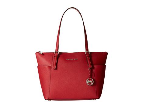 MICHAEL Michael Kors Jet Set Item Ew Tz Tote (Scarlet) Tote Handbags