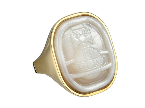 Vivienne Westwood - Gerlinde Ring (Yellow Gold/White Mop) Ring