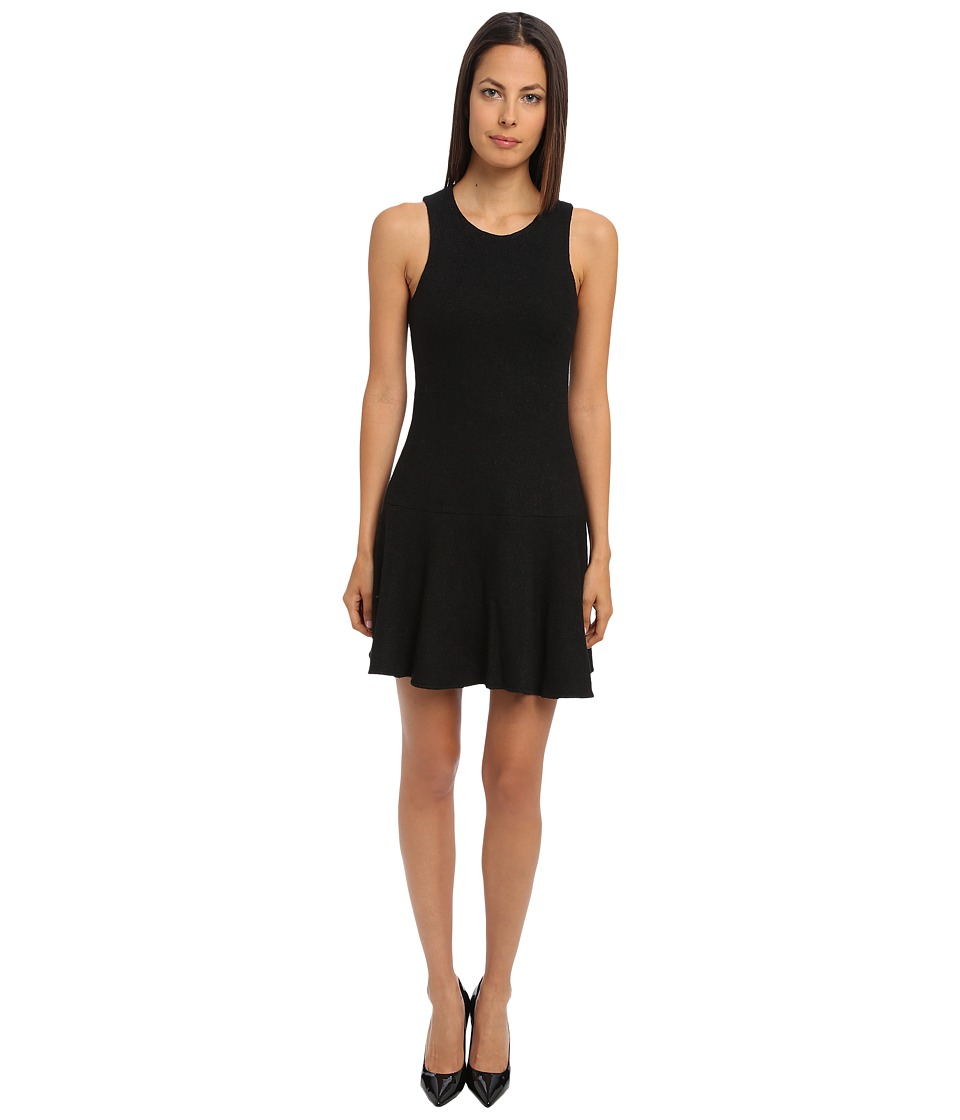 tibi - Kai Boiled Wool Flirty Sleeveless Dress (Black) Women's Dress