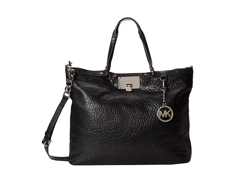 MICHAEL Michael Kors Channing Large Shoulder Tote (Black) Tote Handbags