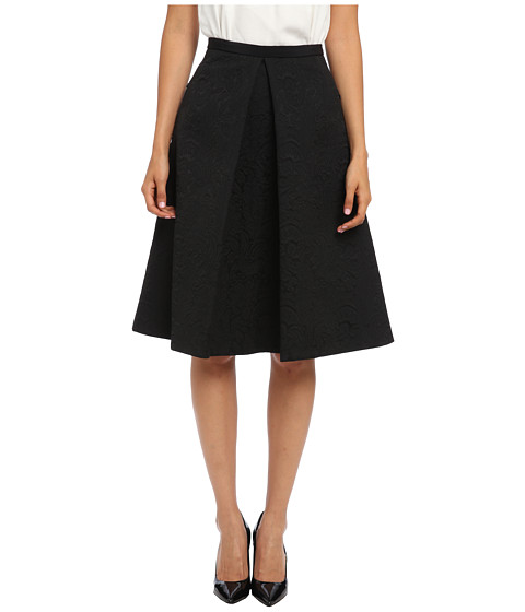 tibi - Lia Jacquard Full Skirt (Black) Women's Skirt