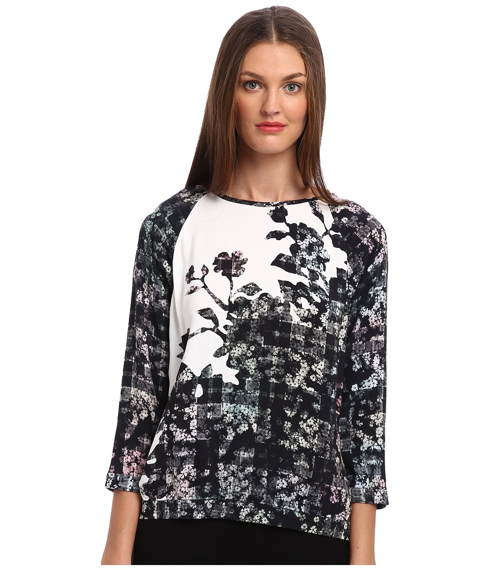 tibi - Floral Fields Easy Sweatshirt (White Multi) Women's Sweatshirt