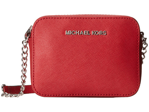MICHAEL Michael Kors Jet Set Travel Crossbody (Scarlet) Cross Body Handbags