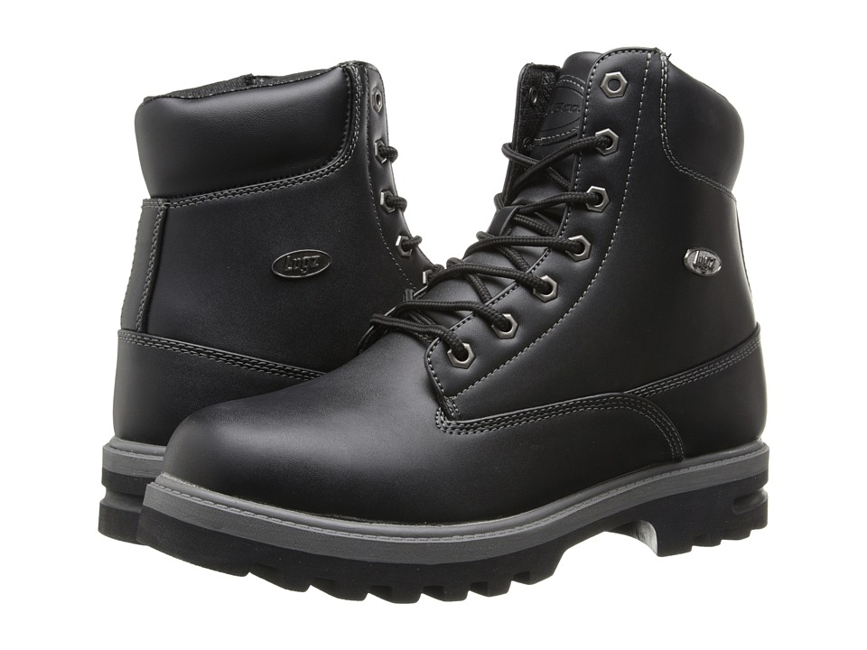 Lugz - Empire Hi WR (Black/Charcoal) Men's Lace-up Boots